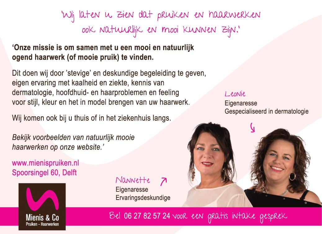 Advertentie Mienis & Co Pruiken - Haarwerken