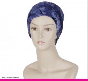Collectie sjaals en mutsjes, chemo, Alopecia, Uit eigen atelier, Mienis & Co Pruiken - Haarwerken, Monster, Delft